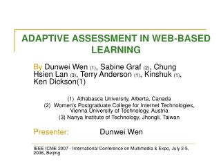 ADAPTIVE ASSESSMENT IN WEB-BASED LEARNING