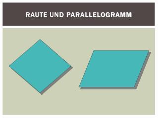 Raute und Parallelogramm