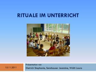 Rituale im Unterricht