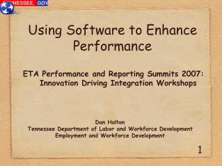 Using Software to Enhance Performance