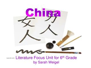 Literature Focus Unit for 6 th  Grade by Sarah Weigel