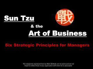 Sun Tzu & the Art of Business