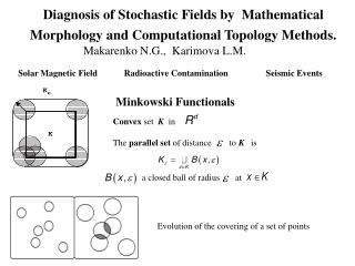 Diagnosis of Stochastic Fields by  Mathematical Morphology and Computational Topology Methods.