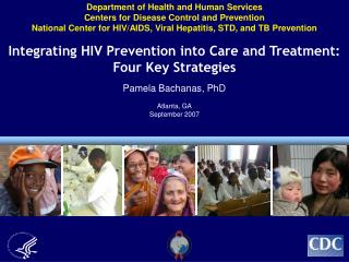 Department of Health and Human Services Centers for Disease Control and Prevention National Center for HIV