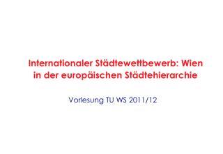 Vorlesung TU WS 2011/12