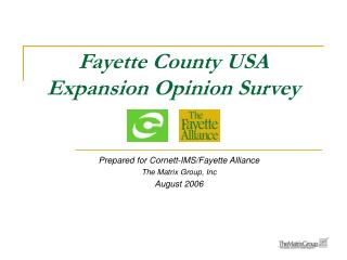 Fayette County USA Expansion Opinion Survey