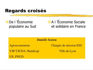 Regards croisés