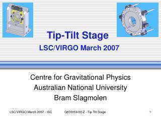 Tip-Tilt Stage  LSC