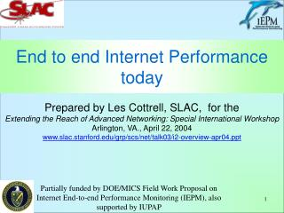 End to end Internet Performance today