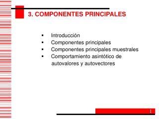 3. COMPONENTES PRINCIPALES