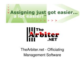 TheArbiter - Officiating Management Software