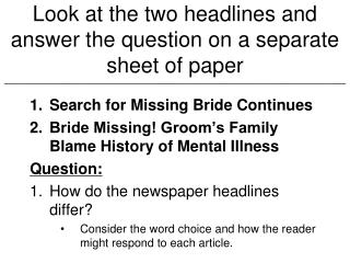 Search for Missing Bride Continues Bride Missing! Groom's Family Blame History of Mental Illness