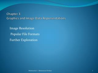 Chapter 3 Graphics and Image Data Representations