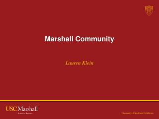 Marshall Community