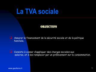 La TVA sociale