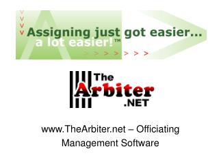 TheArbiter – Officiating Management Software
