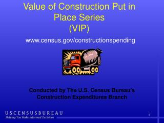 Value of Construction Put in Place Series  (VIP) census/constructionspending