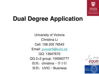 Dual Degree Application