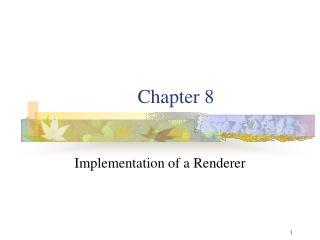 Implementation of a Renderer