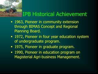 IPB Historical Achievement