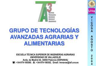 GRUPO DE TECNOLOGÍAS AVANZADAS AGRARIAS Y ALIMENTARIAS