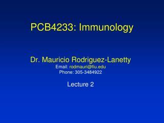 PCB4233: Immunology