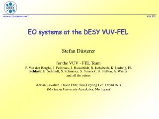 EO systems at the DESY VUV-FEL