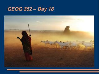 GEOG 352 � Day 18