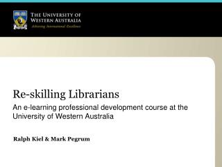 Re-skilling Librarians