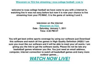 Wisconsin vs TCU live streaming | ncca college football | Li