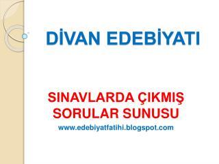 DIVAN EDEBIYATI