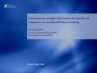 Milano, 3 luglio 2008