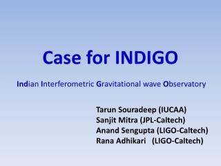 Case for INDIGO