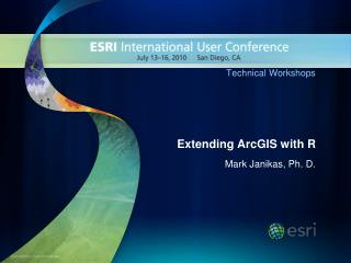 Extending  ArcGIS  with R