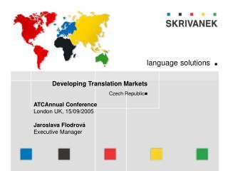 Developing Translation Markets Czech Republic 