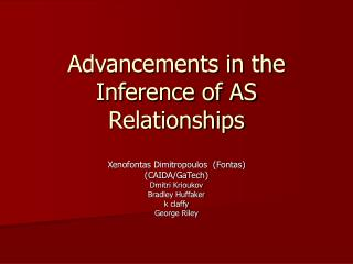 Advancements in the Inference of AS Relationships