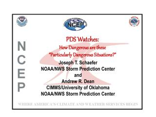 """PDS Watches: How Dangerous are these  """"Particularly Dangerous Situations?"""""""