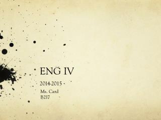 ENG IV  2014-2015