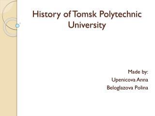 History of Tomsk Polytechnic University