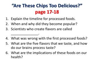 """Are These Chips Too Delicious?""  page 17-18"