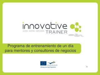 Programa  de  entrenamiento  de un  día para mentores  y  consultores de  negocios