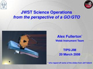 JWST Science Operations  from the perspective of a GO/GTO