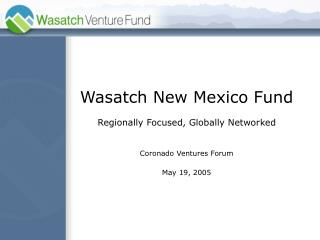 Wasatch Introduction