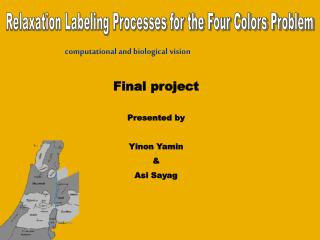 Relaxation Labeling Processes for the Four Colors Problem