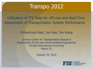 Transpo 2012