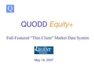 QUODD Equity