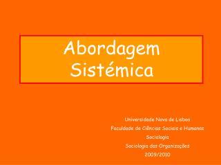 Abordagem Sistémica