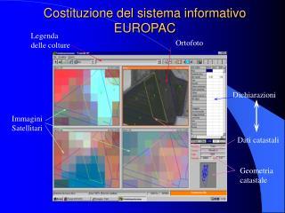 Costituzione del sistema informativo  EUROPAC