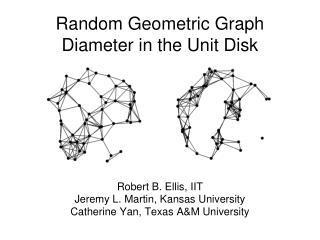 Random Geometric Graph Diameter in the Unit Disk