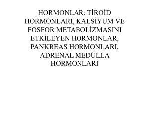 Tiroit hormonları 1